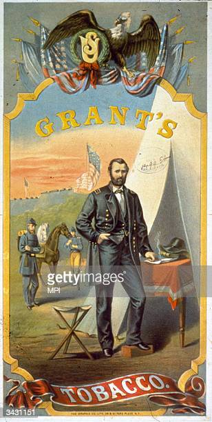 Cigar card featuring the Union Army General and 18th President of the United States, Ulysses S Grant. Printed by The Graphic Co. Lith.