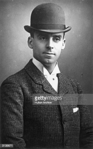 A young man in a Victorian bowler hat