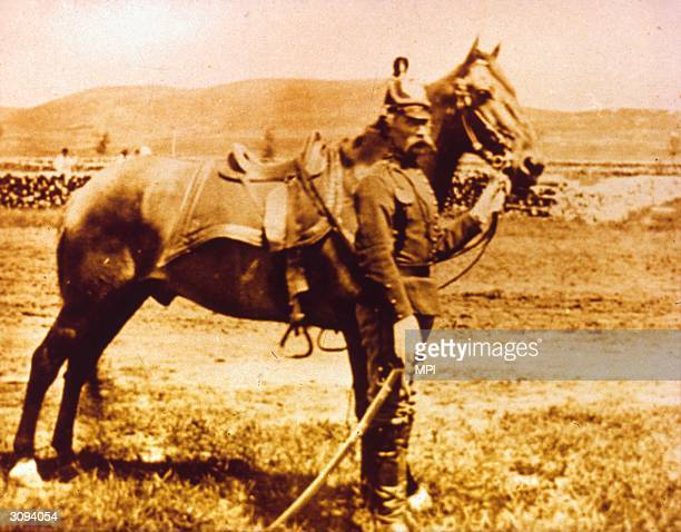 Comanche the horse belonging to Captain Myles Keogh which was the only living creature to survive the massacre of Company I of the 7th Cavalry at the...
