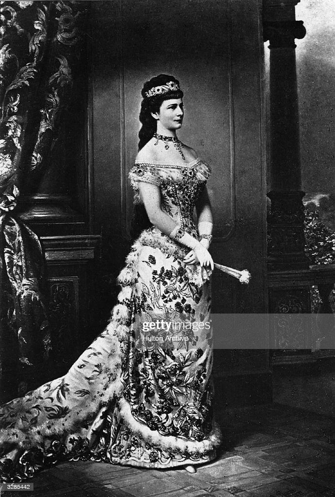 Empress Elisabeth Amalie Eugenie of Austria (1837 - 1898), born Duchess of Bavaria.