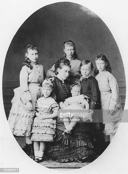 Princess Alice daughter of Queen Victoria who became Grand Duchess of Hesse in 1862 She is pictured here with her children Princess Victoria Princess...