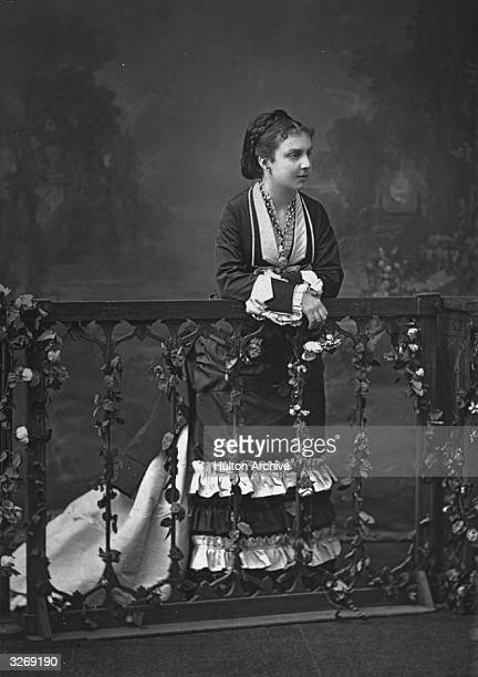 The first wife of Alfonso XII of Spain, Maria Mercedes, daughter of the Duc de Montponsier.
