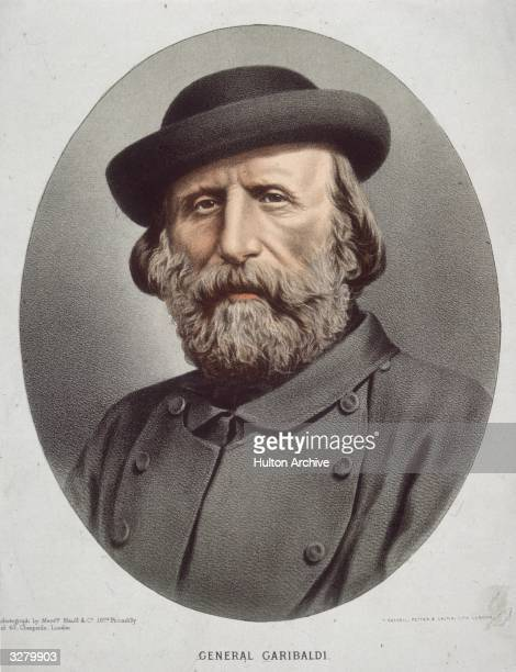 Giuseppe Garibaldi Italian patriot and soldier central figure in Italian Independence Elliptical in portrait format