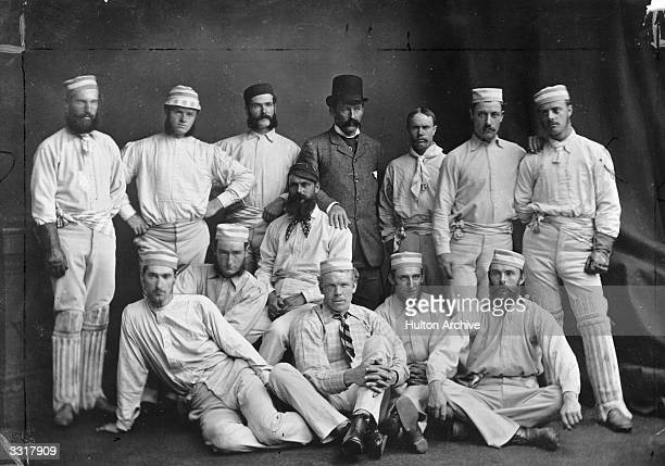 The first Australian cricket team to visit England From left to right J McC Blackham T Horan G H Bailey Dave Gregory J Conway A Bannerman C Bannerman...