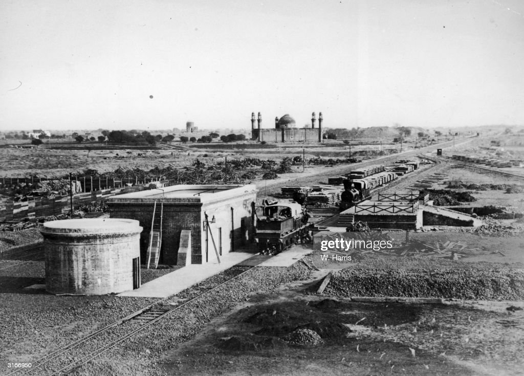A view of the Scinde Delhi and Punjab Railway a few miles from Lahore looking towards Meean Mir on the plains of Punjab in Northern India