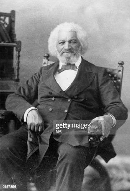 American orator, abolitionist, writer and escaped slave, Frederick Douglass .
