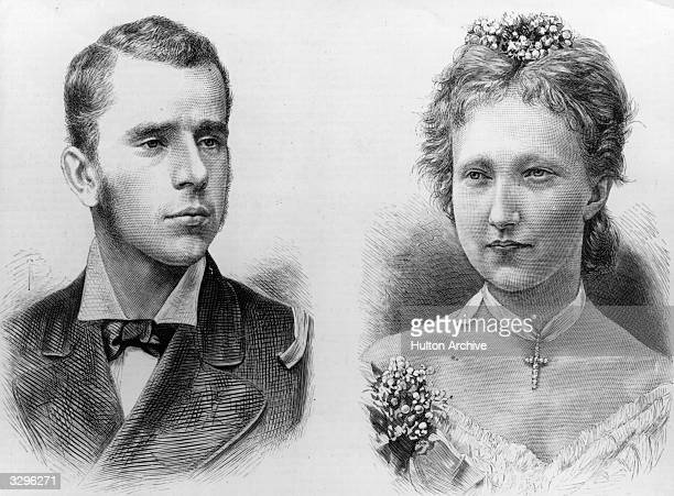 Crown Prince Rudolph of Austria and his bride, Princess Stephanie of Belgium.