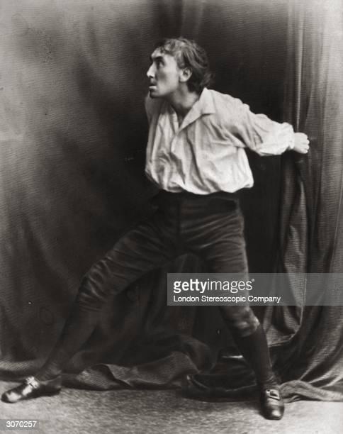 English stage actor Sir Henry Irving born John Henry Brodribb stars as Mathias in 'The Bells'
