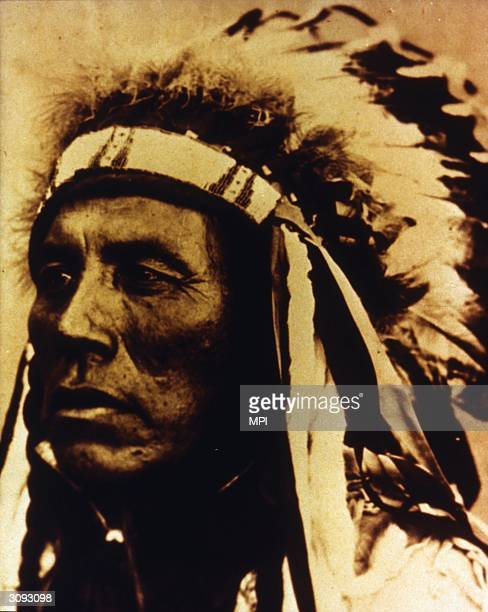 General Custer's Crow scout Curley who survived the massacre at the Battle of Little Big Horn