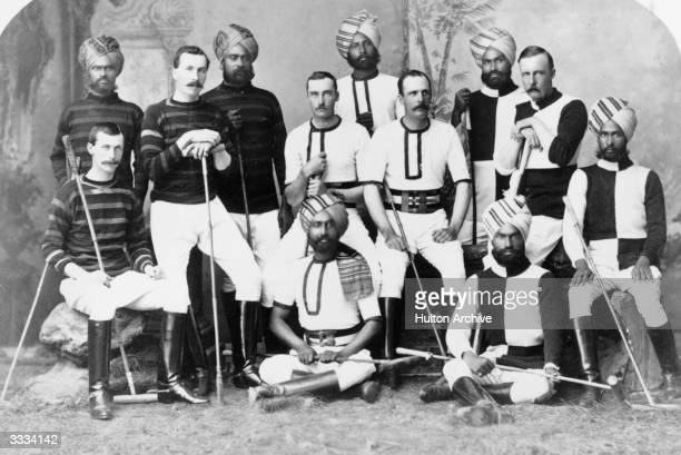 Indian princes and British Army officers in the Hyderabad contingent polo team