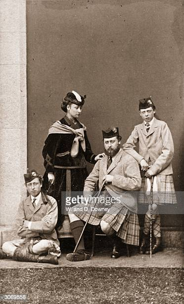 Prince Edward eldest son of Queen Victoria with his siblings Prince Arthur Duke of Connaught Prince Leopold Duke of Albany and Princess Louise...