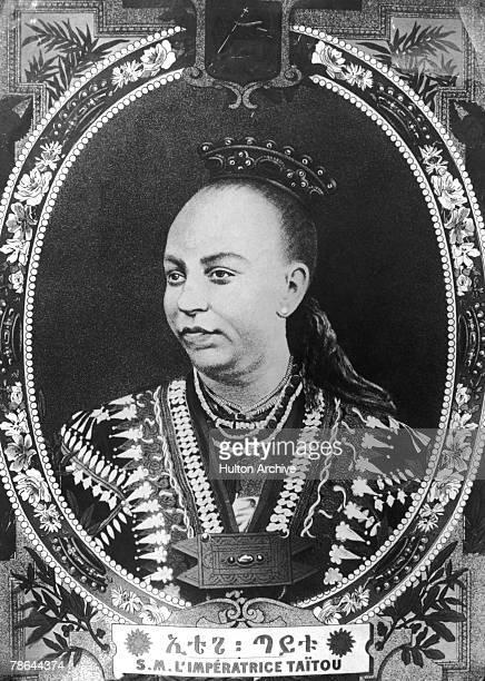 Taytu Betul , wife of Emperor Menelek II of Ethiopia and Empress of Ethiopia from 1889 to 1913.