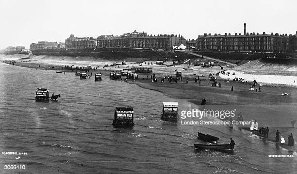 The beach at Blackpool before the tower was built