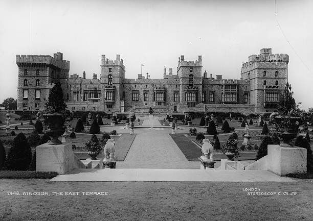 The East Terrace of Windsor Castle, Berkshire, and...