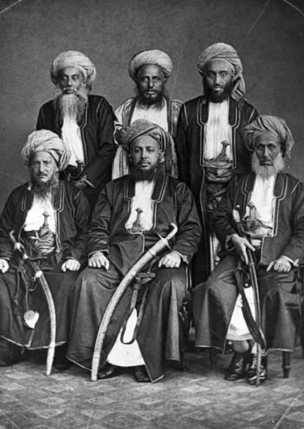 The Sultan of Zanzibar Seyyid Bargash Bin Said with members of his court
