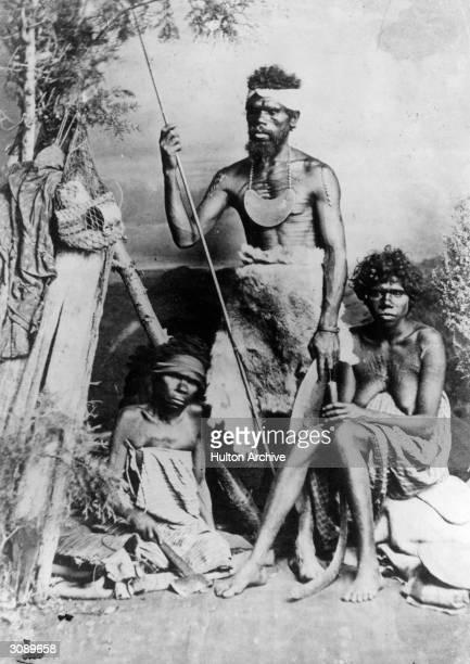 Three Aborigines indigenous inhabitants of Australia