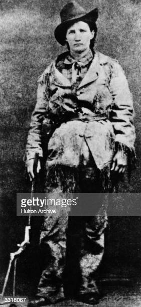 US frontierswoman Calamity Jane celebrated for her bravery and her skill in riding and shooting during the gold rush days in Dakota