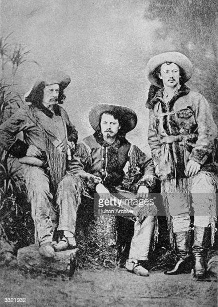American guide Indian scout and buffalo hunter William Frederick Cody who toured America in a wild west show as 'Buffalo Bill' with Ned Buntline and...