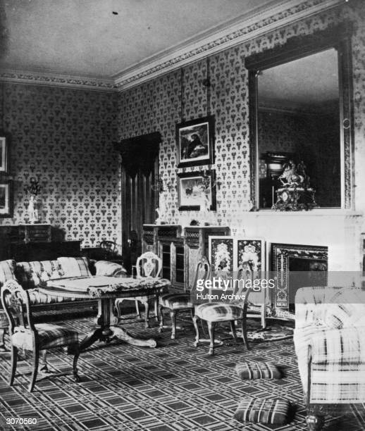 Drawing room in Balmoral Castle