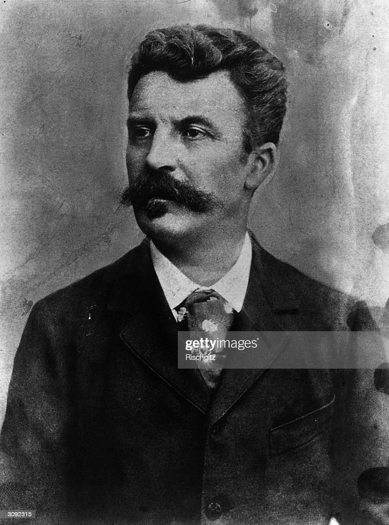 French writer Henry Rene Albert Guy de Maupassant (1850 - 1893), a master of the short story and author of the acclaimed 'Boule de Suif'.