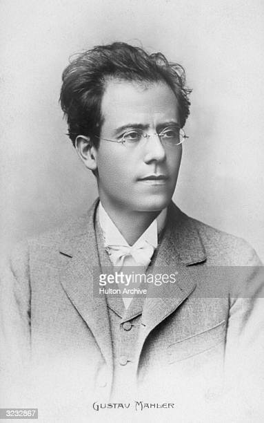 Headshot portrait of Austrian composer and conductor Gustav Mahler