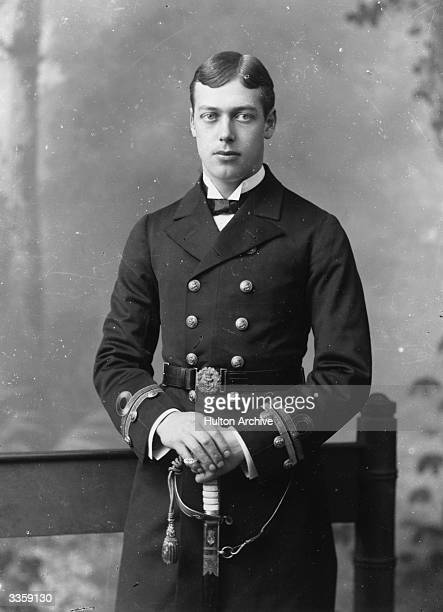King George V king of Great Britain as a prince in naval uniform