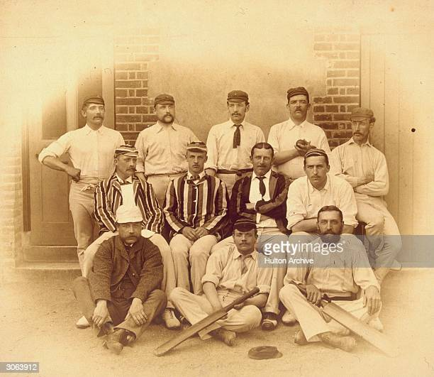 Members of the Lancashire cricket team in the 1880s Crossland is second left back row