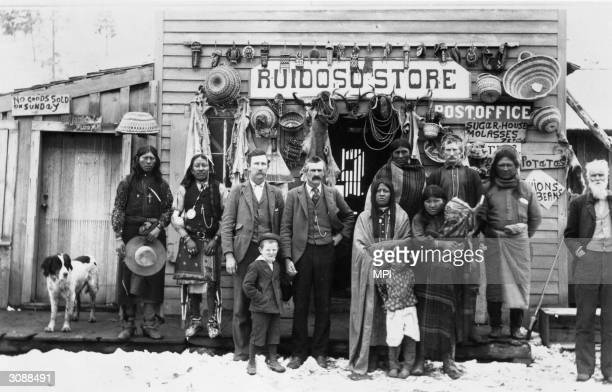 The general store and post office on a Native American Indian reservation in Ruidoso New Mexico