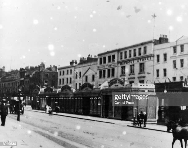 Harrods store in Knightsbridge Kensington