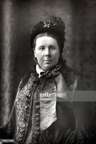 Circa 1890 A portrait of Emily Faithfull whose great work was 'to seek remunerative employment for women' She employed only women at her printing and...