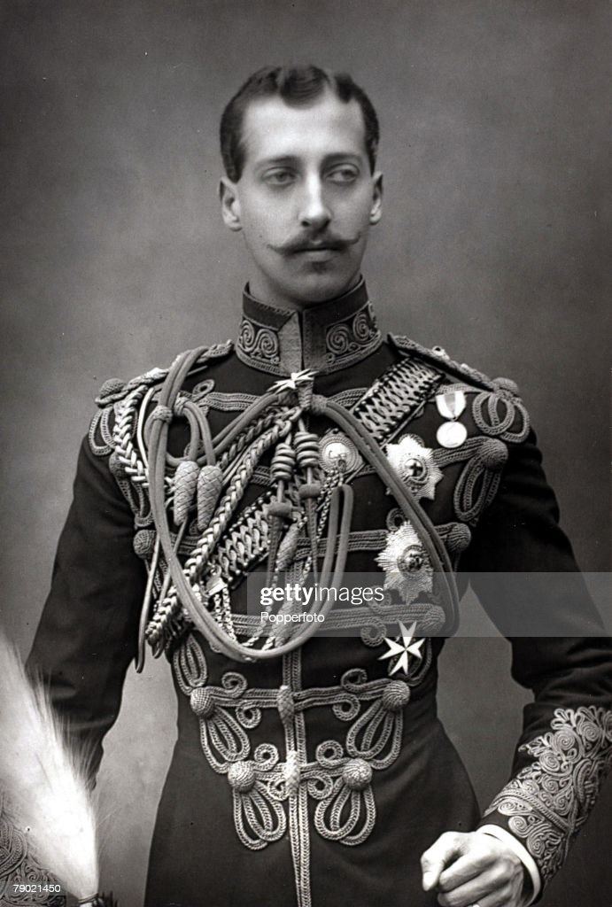 Circa 1890. A portrait of Prince Albert Victor (1864-1892), The Duke of Clarence and Avondale, the son of The Prince and Princess of Wales. : News Photo