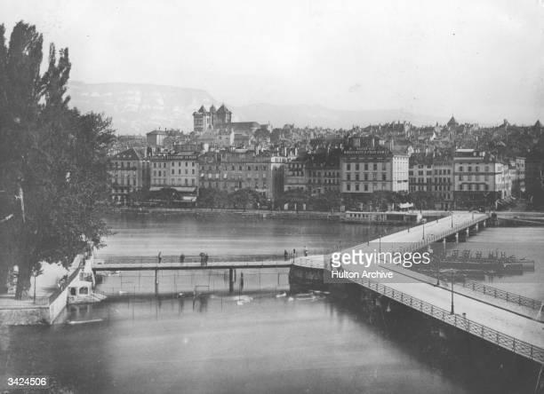 A view of the city of Geneva Switzerland