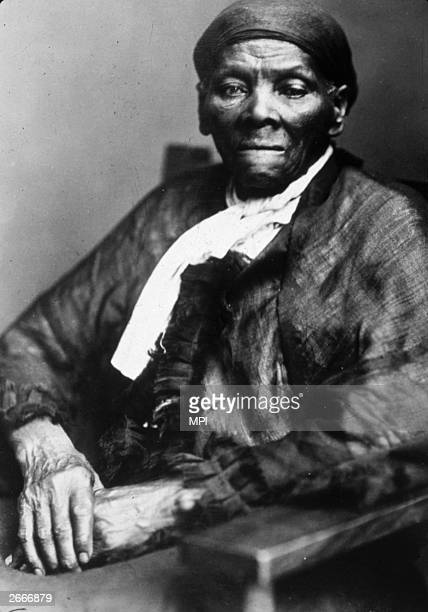 American abolitionist leader and former slave Harriet Tubman who led over 300 escaped slaves to freedom including her parents through the underground...