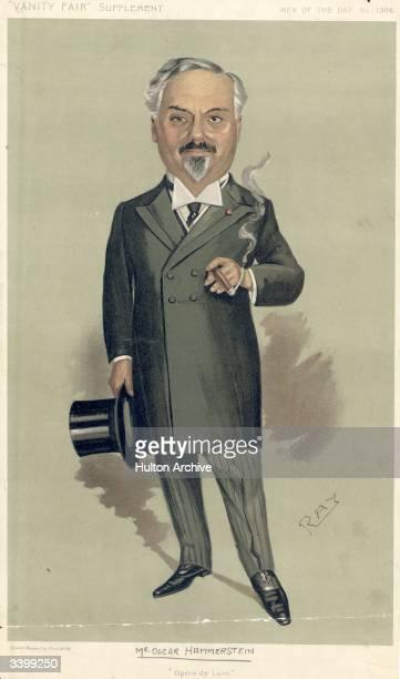 American Impresario Oscar Hammerstein smoking a cigar