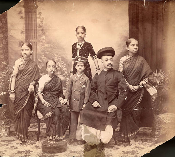 An Indian Brahmin and his family.