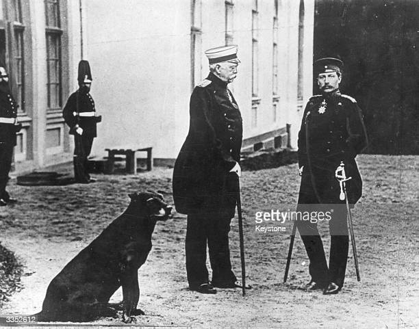 Bismarck and Kaiser Wilhelm II in front of Friedrichsruhe Bismarck's residence Bismarck Chancellor of Germany resigned in March 1890 in protest...