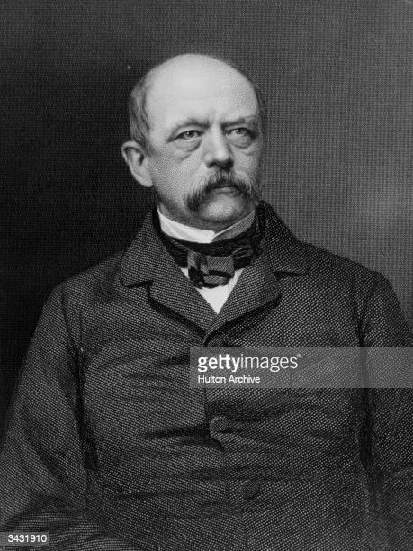 German statesman Otto Edward Leopold von Bismarck Prince Bismarck and Duke of Lauenburg Original Artwork Engraving by Holl from a photograph