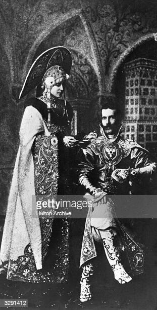 Grand Duke Sergius Alexandrovitch of Russia 4th son of Alexander II and brother of the Tsar with Duchess Elisabeth Feodorovan at a fancy dress ball