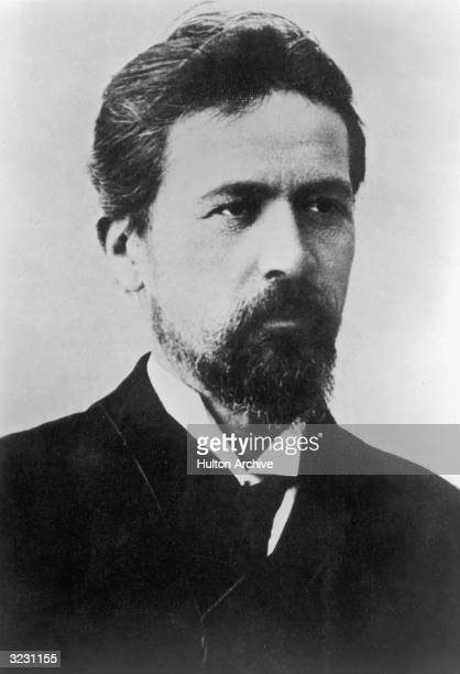Headshot portrait of Anton Chekhov Russian writer and playwright