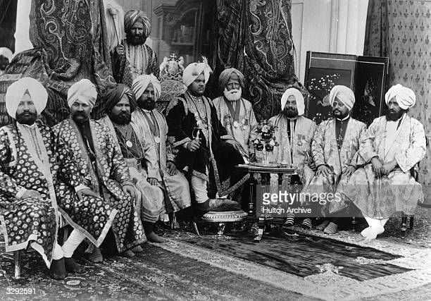 His Highness the Maharajah RajaIRajgan of Kapurthala with the State Council