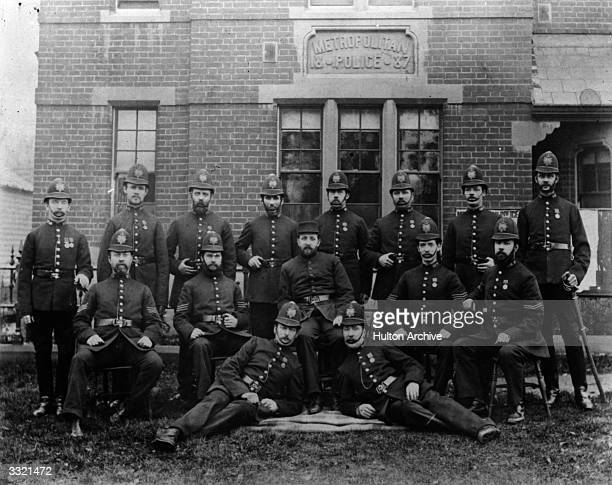 Members of the Metropolitan Police outside their station