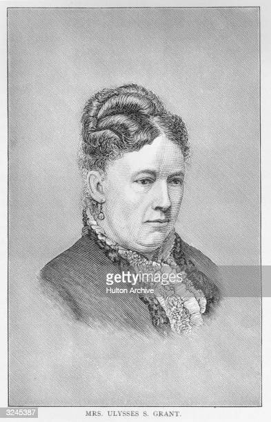 Portrait of Julia Dent Grant wife of the American general and 18th US president Ulysses S Grant