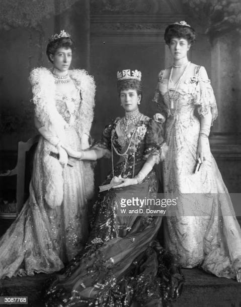 Princess Alexandra consort of the future King Edward VII with two of her three daughters Princess Louise the Princess Royal and Princess Victoria