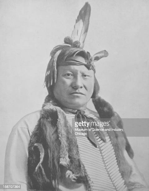 An image of RainInTheFace a Sioux Indian from the Lakota tribe that reportedly planned and executed the Battle of Little Bighorn as seen at the...