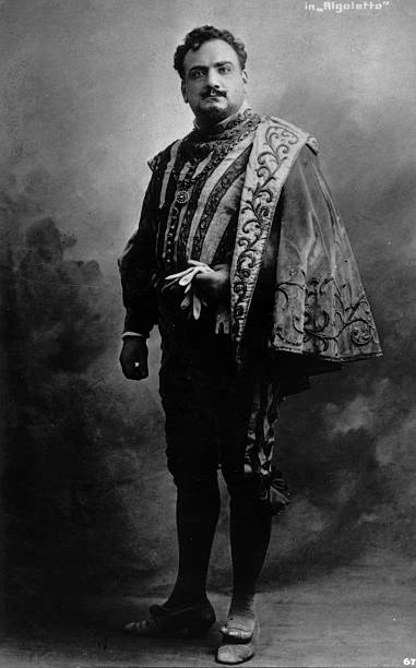 Tenor, Enrico Caruso in costume for Rigoletto.