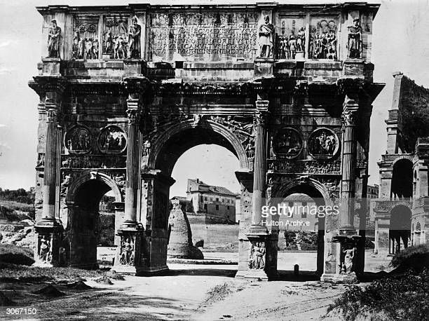 The Arch Of Constantine in Rome was built to commemorate Constantine the Great's victory over Maxentius making Constantine the absolute monarch of...