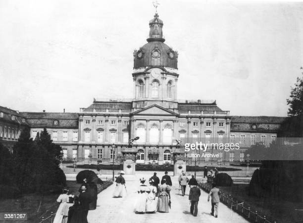 The grounds of the Charlottenburg Palace in Berlin, which houses the Museum of Decorative Arts.