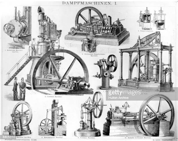 Various German steam engines from the 19th century