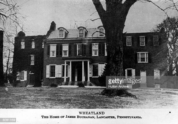 Wheatland the house of James Buchanan the 15th President of the United States of America situated in Lancaster Pennsylvania