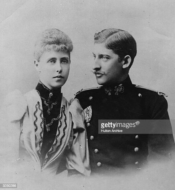 Prince Ferdinand of Romania with his fiancee, Princess Marie of Edinburgh , later the King and Queen of Romania.